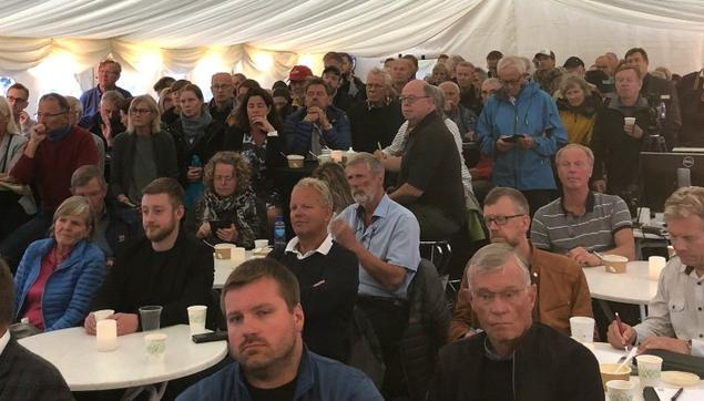 Full house when FNI co-hosted a windpower debate during Arendalsuka. Photo: Bård Amundsen, Forskning.no