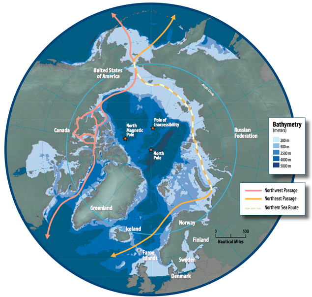 Northern Sea Route. Illustration: Susie Harder, Arctic Council