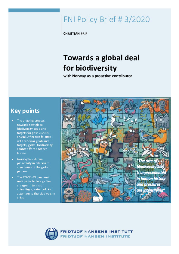 Towards a global deal for biodiversity