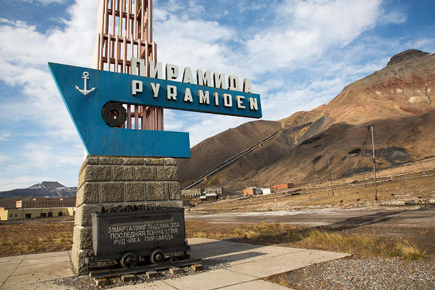 Picture of the Pyramid, the Russian settlement on Svalbard