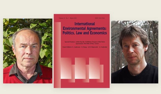 Steinar Andresen og Jon Birger Skjærseth med forsiden av den ferske utgaven av INEA.