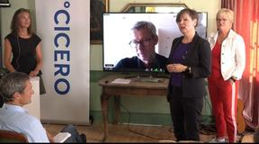 Jon Birger Skjærseth digitally present at Cicero event on the Climate goals