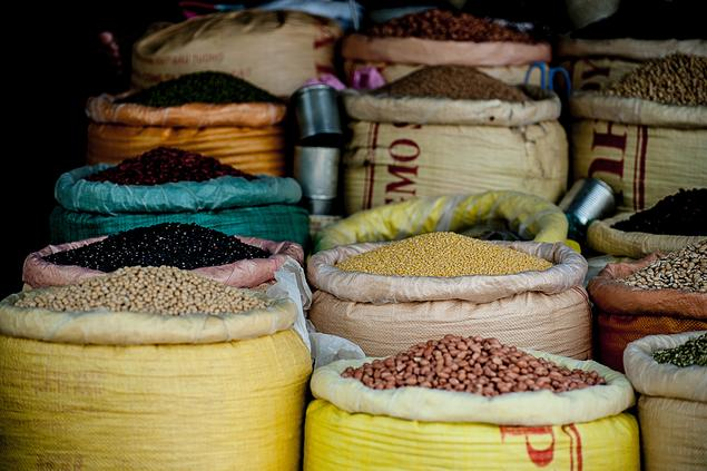 Colorful beans and spices in Vietnam marked. Photo: v2osk at Unsplash.com