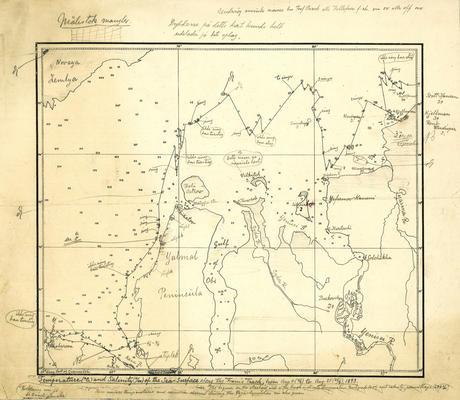 Kart etter Fram-ekspedisjonen