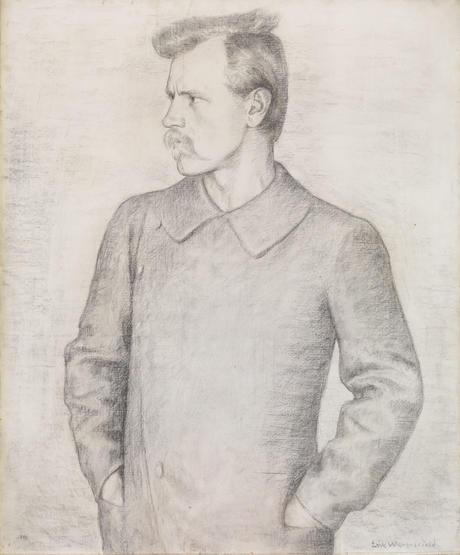 Portrait av Fridtjof Nansen, av Erik Werenskiold 1893