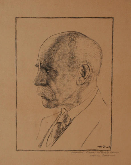 Fridtjof Nansen self-portrait, 1930