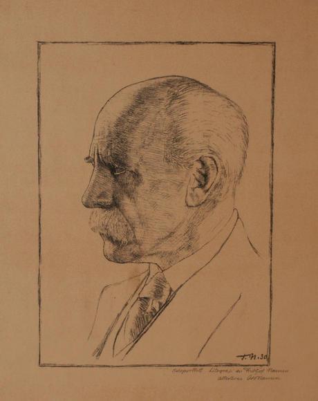 Fridtjof Nansen, selvportrett 1930