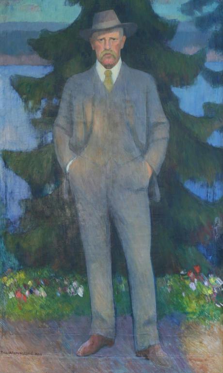 Fridtjof Nansen portrait by Erik Werenskiold, 1938