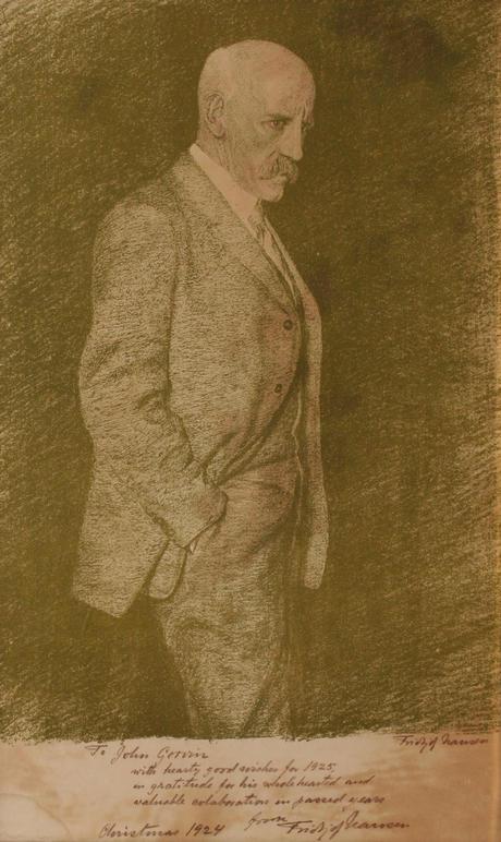 Fridtjof Nansen, selvportrett 1924
