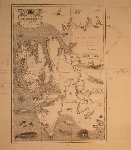 Fridtjof Nansen's Spitsbergen map, 1920