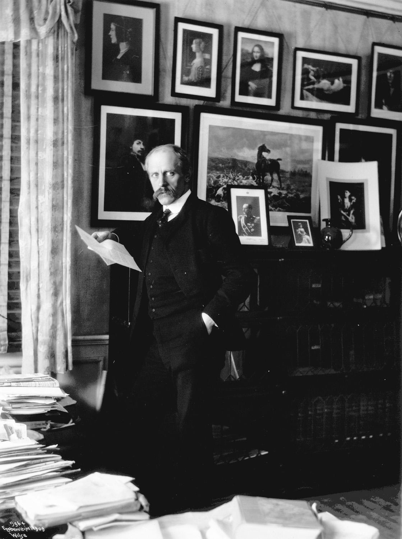 Fridtjof Nansen på Polhøgda, 1909. Photo: Wilse