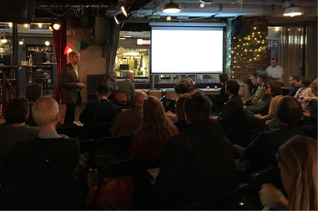 Jon Birger Skjærseth at Cicep breakfast meeting. Photo: Karoline Flåm, FNI
