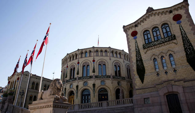 The Norwegian Parliament. Photo: Stortinget