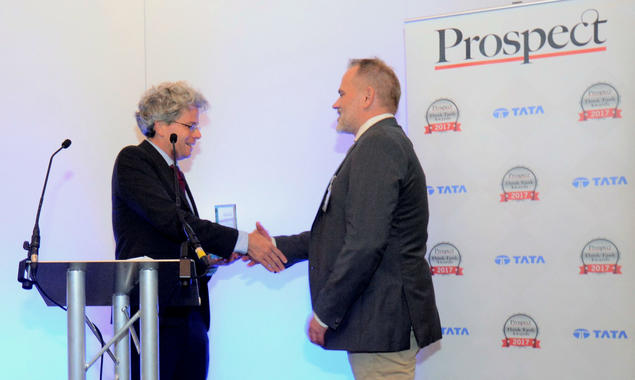 Prospect Think Tank Awards 2017. Photo: Prospect Magazine