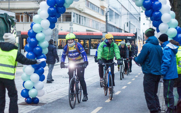 Bikers in Oslo, Norway. Photo: Norges Naturvernforbund
