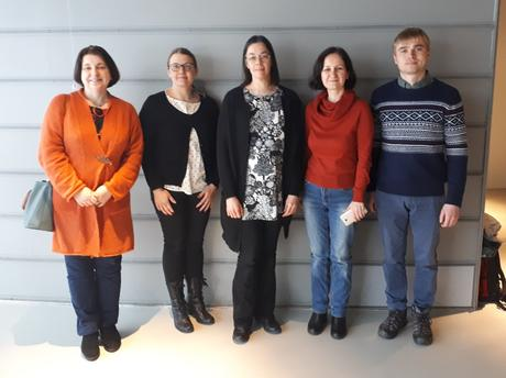 The project team, with project leader Anna Korppoo in the middle.