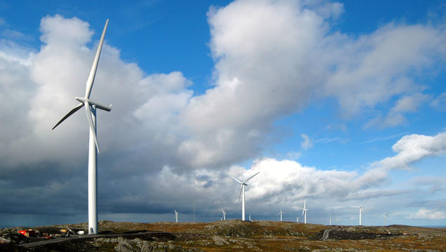 Hitra wind farm, Norway. Photo: Statkraft