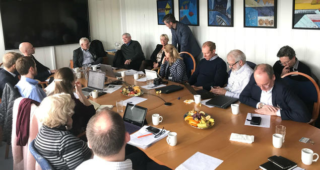 The AlaskaNor project brings 17 different partners from both the US and Norway together. Here from the partner meeting in Bodø 2 April 2019. Photo: Karoline H. Flåm